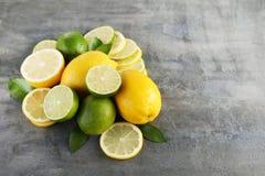 Ασβέστες και λεμόνια Στοκ Φωτογραφία