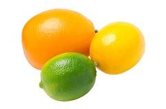 Ασβέστης, λεμόνι και πορτοκάλι στοκ φωτογραφίες