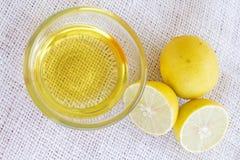 Ασβέστης και μέλι λεμονιών Στοκ φωτογραφίες με δικαίωμα ελεύθερης χρήσης