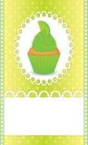 ασβέστης καρτών cupcake Στοκ εικόνα με δικαίωμα ελεύθερης χρήσης
