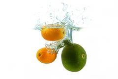 Ασβέστης-Lemon1 Στοκ Εικόνες