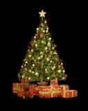 Ασβέστιο δώρων Χριστουγέννων διανυσματική απεικόνιση
