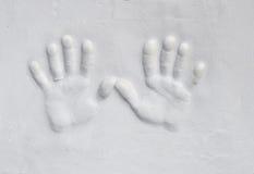 ασβεστοκονίαμα χεριών Στοκ Εικόνες