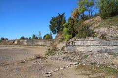 Ασβεστόλιθος quarry Στοκ Φωτογραφία