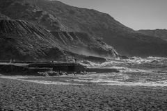 Ασημένια ακτή στοκ φωτογραφία