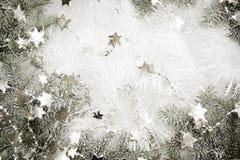 Ασημένια ανασκόπηση αστεριών Στοκ Εικόνες