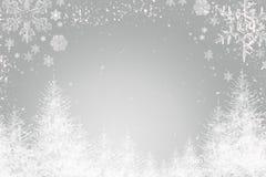 Ασημένια ανασκόπηση Χριστουγέννων Στοκ Εικόνες