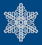 Ασημένια απομονωμένη snowflake διακόσμηση απεικόνιση αποθεμάτων
