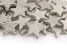 ασημένια αστέρια ανασκόπησης Στοκ φωτογραφία με δικαίωμα ελεύθερης χρήσης