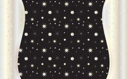 Ασημένια αστέρια στο μαύρο διάνυσμα υποβάθρου Στοκ Φωτογραφία