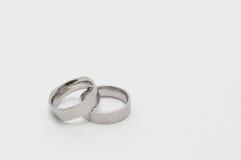 Ασημένια δαχτυλίδια Στοκ Εικόνες