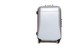 Ασημένια βαλίτσα κοχυλιών που στέκεται στο άσπρο υπόβαθρο Στοκ φωτογραφίες με δικαίωμα ελεύθερης χρήσης