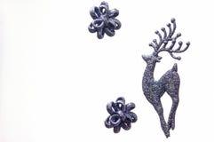 Ασημένια γκρίζα διακόσμηση Χριστουγέννων ταράνδων Στοκ Εικόνα