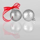 Ασημένια διακόσμηση Χριστουγέννων στοκ εικόνες