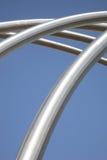 ασημένια δομή μετάλλων Στοκ Εικόνες