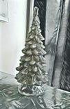 Ασημένια εικόνα υποβάθρου χριστουγεννιάτικων δέντρων στοκ εικόνες με δικαίωμα ελεύθερης χρήσης