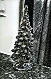 Ασημένια εικόνα υποβάθρου χριστουγεννιάτικων δέντρων στοκ εικόνες