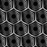 Ασημένια εξαγωνική οπτική παραίσθηση Στοκ φωτογραφία με δικαίωμα ελεύθερης χρήσης