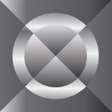Ασημένια διαγώνια περίληψη κύκλων Στοκ Εικόνες