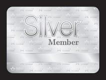 Ασημένια κάρτα λεσχών μελών με το μικρό σχέδιο αστεριών ελεύθερη απεικόνιση δικαιώματος