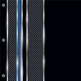 Ασημένια, μαύρα και μπλε σύνορα μετάλλων Στοκ Εικόνα