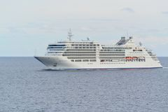 Ασημένια μούσα γραμμών κρουαζιέρας Silversea εν πλω Στοκ Φωτογραφίες