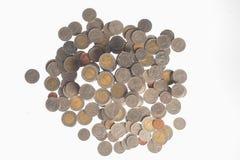 Ασημένια νομίσματα της Ταϊλάνδης Στοκ Φωτογραφίες