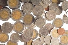 Ασημένια νομίσματα της Ταϊλάνδης Στοκ Φωτογραφία