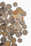 Ασημένια νομίσματα της Ταϊλάνδης Στοκ φωτογραφίες με δικαίωμα ελεύθερης χρήσης
