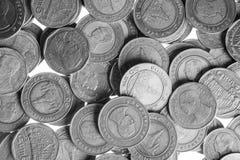 Ασημένια νομίσματα της Ταϊλάνδης Στοκ εικόνα με δικαίωμα ελεύθερης χρήσης