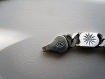 ασημένια οπή αλυσίδων 925 στοκ εικόνες