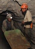 Ασημένια παραγωγή στο ορυχείο στοκ εικόνα