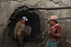 Ασημένια παραγωγή στο ορυχείο στοκ εικόνα με δικαίωμα ελεύθερης χρήσης