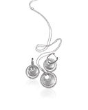 Ασημένια σκουλαρίκια και περιδέραιο διαμαντιών Στοκ Εικόνες