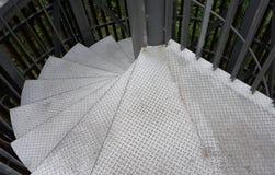 Ασημένια σπειροειδής σκάλα σιδήρου Στοκ εικόνα με δικαίωμα ελεύθερης χρήσης