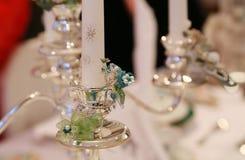Ασημένια στάση κεριών Στοκ Εικόνα