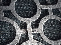 Ασημένια σύσταση κύκλων Στοκ φωτογραφίες με δικαίωμα ελεύθερης χρήσης