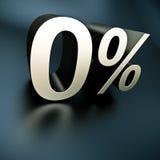 Ασημένια 0 τοις εκατό στοκ εικόνα
