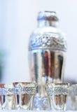 Ασημένια goblets στοκ εικόνες