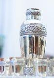 Ασημένια goblets στοκ φωτογραφίες