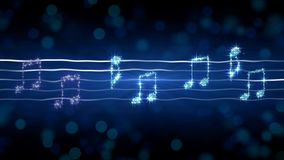 Ασημένιες σημειώσεις για τη μουσική φύλλων, απεικόνιση sonata σεληνόφωτου, υπόβαθρο καραόκε Στοκ φωτογραφίες με δικαίωμα ελεύθερης χρήσης