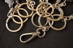 Ασημένιοι βρόχοι μετάλλων για τη βασική αποταμίευση Στοκ φωτογραφία με δικαίωμα ελεύθερης χρήσης