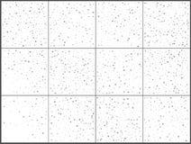 Ασημένιοι εορτασμοί κομφετί αστεριών Απλό εορταστικό σύγχρονο σχέδιο Διάνυσμα διακοπών E απεικόνιση αποθεμάτων