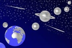 Ασημένιοι πλανήτες Στοκ Εικόνα