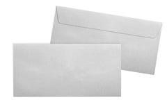 Ασημένιοι φάκελοι που απομονώνονται στο άσπρο υπόβαθρο Στοκ εικόνες με δικαίωμα ελεύθερης χρήσης