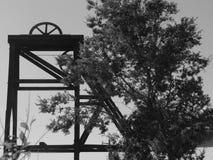 Ασημένιος ανελκυστήρας ορυχείου στοκ εικόνες