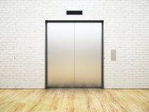 Ασημένιος ανελκυστήρας διανυσματική απεικόνιση