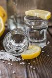 Ασημένιος μακρο πυροβολισμός Tequila Στοκ Φωτογραφίες