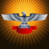 Ασημένιος χάλυβας μετάλλων αετών Στοκ εικόνα με δικαίωμα ελεύθερης χρήσης