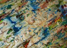 Ασημένιο άσπρο μαλακό μπλε υπόβαθρο σημείων, λαμπιρίζοντας λασπώδες κέρινο χρώμα, υπόβαθρο μορφών αντίθεσης στα χρώματα κρητιδογρ Στοκ Εικόνες
